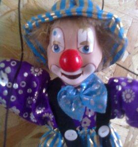Клоун марионетка фарфоровый