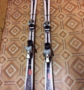 Горные лыжи arrow+крепление+ботинки+палки