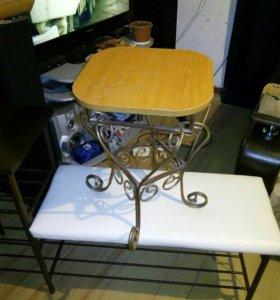 Столы стулья лавочки и т.д