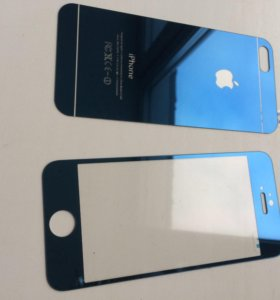 Защитное Стекло iPhone 5 5s синий