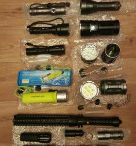Фонари для охоты и рыбалки, зарядки, аккумуляторы