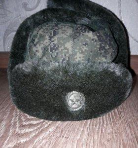 Новая военная шапка-ушанка
