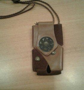 Чехол/сумка для телефона, универсальная,замша+кожа