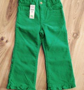 Новые джинсы вельветовые 3 года
