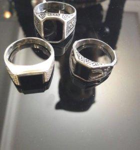 Мужские перстни , серебро 925 проба