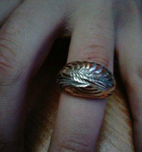 Кольцо ,серебро 925 проба,позолоченное