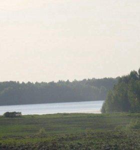 Участок 19соток у реки в 25 км от пгт Шексна