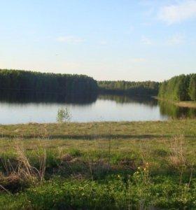 Участок 19соток у реки в 25км от пгт Шексна