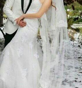 Свадебное платье+туфли