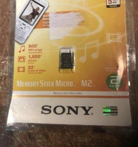 Карта памяти Memory Stick Micro M2 на 2 Gb