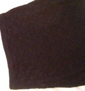 Кружевная черная юбка б/у