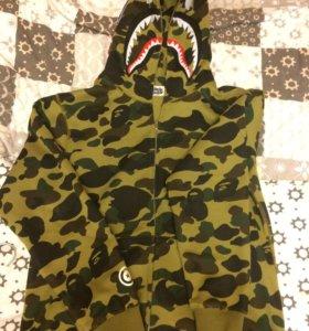 Bape shark hoodie camo