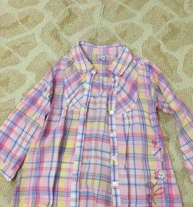Блузка туника рубашка 98-110