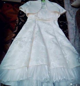 Платье + перчатки + болеро
