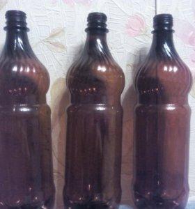 Бутылки пластиковые - ПЭТ с крышками