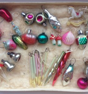 Набор маленьких елочных игрушек СССР