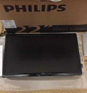 Новый телевизор PHILIPS 22(55см)
