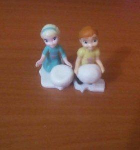 Эльза и Анна из Киндр Яйца