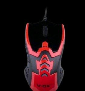 Игровая мышка V-ox с подсветкой и плетеным кабелем
