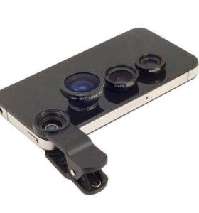 Линзы на камеру телефона