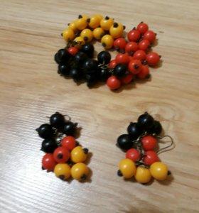 Серьги и браслет