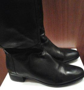 Сапоги-ботфорты кожаные 38р.
