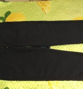 Брюки школьные теплые типа jeans