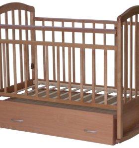 Кроватка-маятник Алита 4 бук