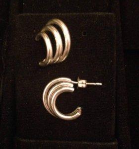 Серьги серебро 925 пробы
