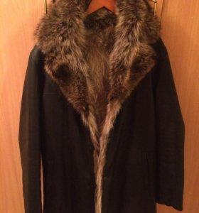 Кожаная куртка енот