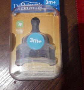 Соска для бутылочек Dr Brown's 2 шт