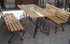 Кованые скамейки и столы для дачи
