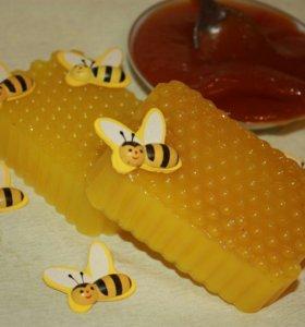 Мыло медовое с натуральным медом