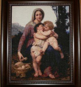 Картина вышита крестом.