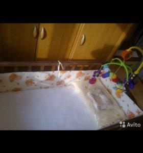 Кроватка детская Любаша + матрац наполнитель кокос