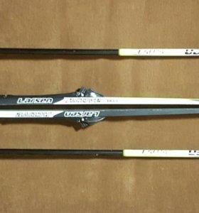 Лыжи 170 см с палками larsen