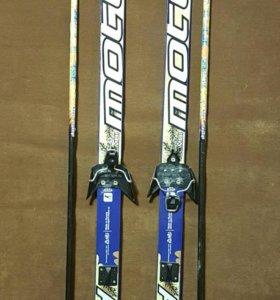 Лыжи 150 см с палками