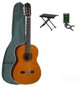 Классическая гитара Yamaha c40 комплект гитариста