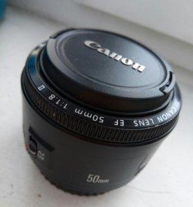 Объектив Canon EF 50 mm 1:1.8