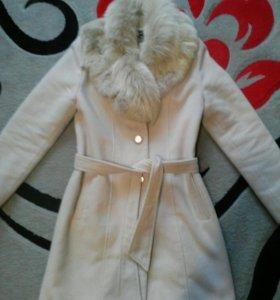 Зимнее пальто+шапка в подарок