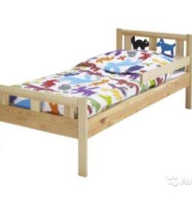 Кровать детская Криттер и матрас Висса 70*160 Икеа