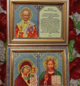 Иконы из чешского бисера