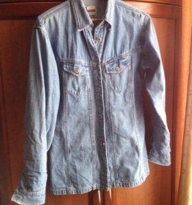 Рубашка женская джинсовая