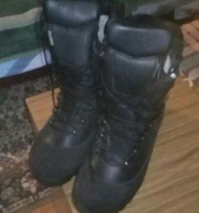 Теплые офицерские сапоги