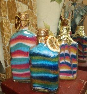 Продам бутылки декоративные