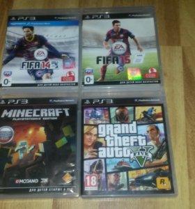 Игры на PS3 (GTA 5, FIFA 14, FIFA 15, Minecraft)