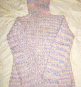 Кофта свитер из махера меланж