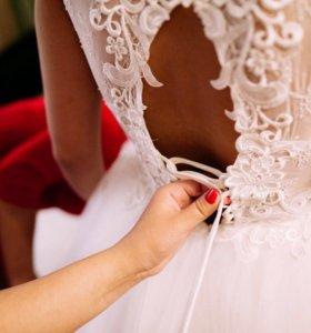 Свадебное платье ;фата;кольца