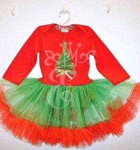 Новогоднее платье-боди Елочка