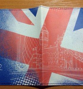 Обложка для паспорта с флагом Великобритании